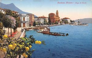 Italy Gardone Riviera - Lago di Garda, coast, port, harbour, ship boats