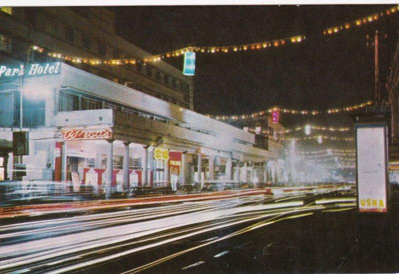 CALCUTTA , India , 1950-60s ; Park Street at night