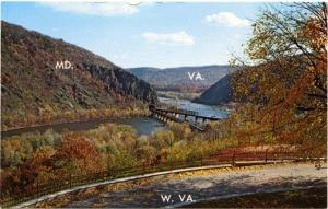 Harpers Ferry West Virginia Potomac and Shenandoah Rivers Maryland and Virginia