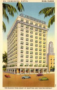 Florida Miami El Comodoro Hotel 1949