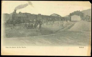 greece BRALLO, Gare Chemin, Railway Station 1917 Train