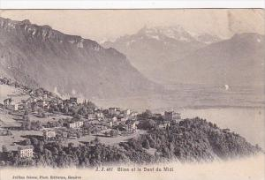 Switzerland Glion et la Dent du Midi 1907