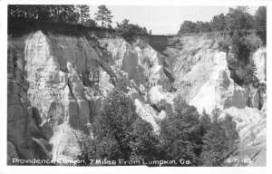 Lumpkin Georgia Providence Canyon Real Photo Vintage Postcard JH230417