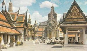 Thailand Thai Khandharasdr Pavillion King Rama 4 IV Vintage Thai Photo Postcard