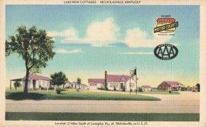 Postcard Lake View Cottages Nicholasville Kentucky
