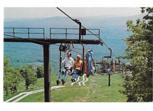 Bromley Chair Lift Ride to Alpine Slide at Ski Area Route 11 Near Manchester VT
