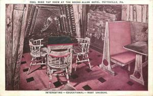1930s Postcard Pottsville Pennsylvania Coal Mine Tap Room #2 interior 11529