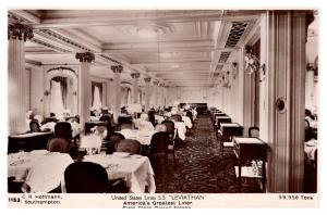S.S. Leviathan , United States Lines , 1st Class Dining Saloon ,   RPC