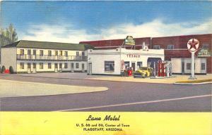 Bowie AZ Lane Motel Texaco Gas Station U. S. 66 Linen Postcard