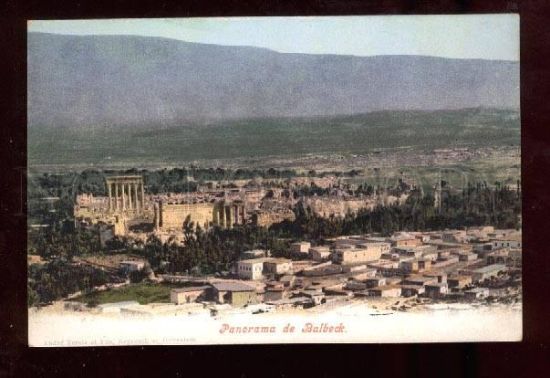 023367 SYRIA BALBECK General view Vintage colorful PC