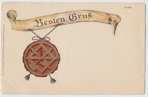 c1910 BESTEN GRUBE German Germany Postcard Best Wishes