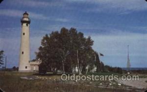 Presque Isle light House,Michigan USA Lighthouse, Lighthouses Postcard Postca...