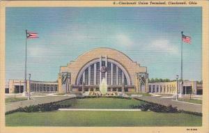 Ohio Cincinnati Union Railroad Terminal 1951 Curteich