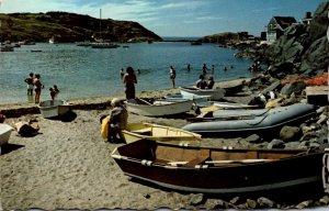 Maine Beach At Monhegan Island 1980
