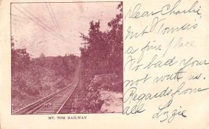 Holyoke Massachusetts Mt Tom Railway Railroad Antique Postcard K76691