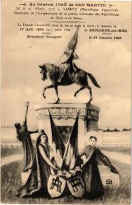 CPA BOULOGNE-sur-MER - Au Général José de San Martin (267881)