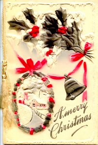 Greeting - Christmas. Traditional Fold-Out Card, Not a Postcard