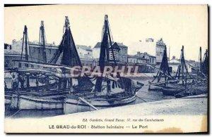 Postcard Old fishing boat Le Grau du Roi Seaside resort port