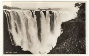 Zambia; Victoria Falls No 104 RP PPC, By J Salmon, Unposted, c 1930's