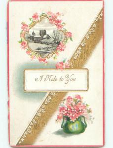 Divided-Back BEAUTIFUL FLOWERS SCENE Great Postcard AA3894