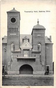 E49/ Sabina Ohio Postcard c1910 Clinton County Wilmington Township Hall