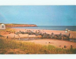 Unused Pre-1980 BEACH SCENE Rustico Beach - By New Glasgow PE d6498
