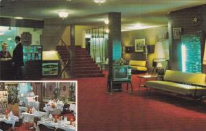BURNABY, B.C, Canada, 40-60´s; 2 Views, Astor Motor Hotel, Lobby and Restaurant