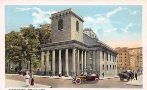 Kings Chapel, Boston, Massachusetts, Postcard, Unused