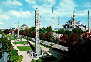 Turkey Istanbul The Blue Mosque and Saint Sophia