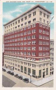 SHREVEPORT, LOUISIANA, 1910s ; City Savings Bank and Trust Co.