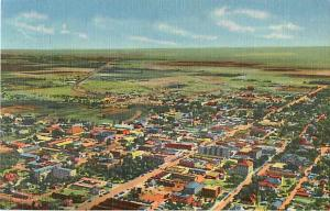 Air view of Roswell NM New Mexico Linen Postcard