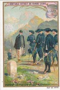 LIebig Vintage Trade Card 1903 French Alpine Troops On Manoeuvres S738 Rencon...