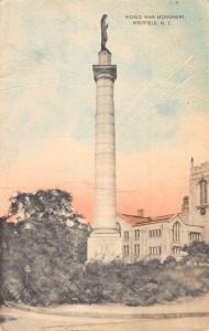 Westfield New Jersey World War Monument Street View Antique Postcard K57082