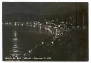 RP, Riviera dei Fiori, Panorama di Notte, Alassio (Savona), Liguria, Italy, 1...