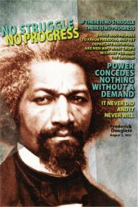 Frederick Douglass No Struggle No Progress Quote Postcard