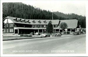 Vtg 1950 RPPC Hotel Quincy, Quincy CA Eastman B-8168 Plumas County Unused