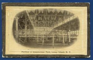 Coney Island New York ny Pavilion in Steeplechase Park old postcard