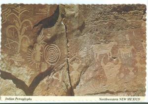 USA, Indian Petroglyphs, Northwestern NEW MEXICO, 1970s unused Postcard