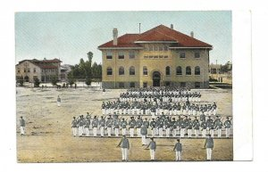 Vintage Postcard Los Angeles CA HARVARD MILITARY ACADEMY  Drilling