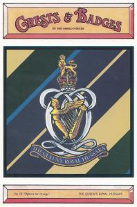 The Queens Royal Hussars Crest Badge Military Postcard