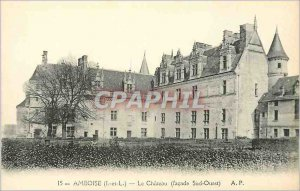 Postcard Old Amboise (I and V) Le Chateau (Facade South West)