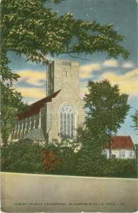 Christ Church Cranbrook Bloomfield Hills, Michigan MI  Vintage Postcard