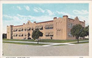 High School , AVON PARK , Florida , 1910s