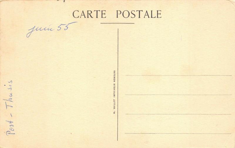 Vintage 1950's Art Postcad, Saint-Mathurin de Larchant Church, France 23R