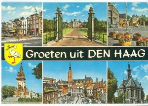 Netherlands, Groeten uit den Haag, 1960s unused Postcard