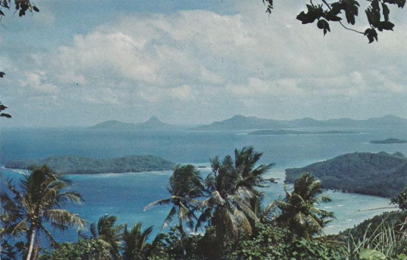 Udot and Tol Islands viewed from Moen Island - Chuuk, Micronesia - Pacific