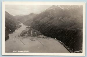 Postcard AK Skagway Aerial View of Town RPPC Robinson Real Photo Q12