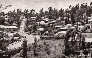 Africa Ethiopia real photo postcard Addis Adaba Ras Makonnen bridge panorama