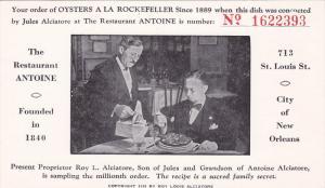 Oysters a la Rockefeller , ANTOINE Restaurant , New Orleans , Louisiana , 00-10s