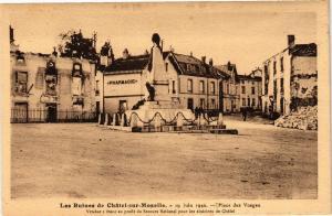 CPA Les Ruines de CHATEL-sur-MOSELLE-Place des Vosges (184806)